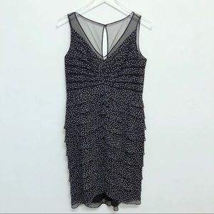 Adrianna Papell Polka Dot Tiered Dress